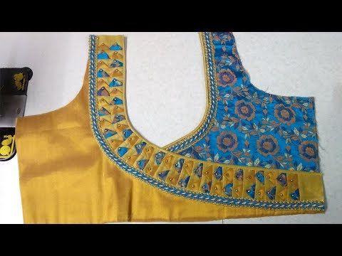 Easy and simple blouse back neck designing || Designer blouse .