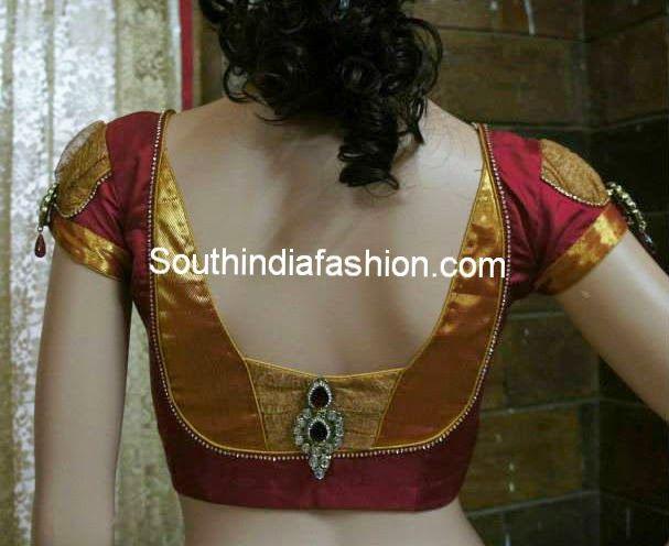 Stylish Blouse Back Neck Pattern for Silk Sarees | Saree blouse .