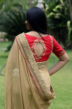 30+ Trendy Blouse Back Neck Designs For Silk Sarees | Blouse .