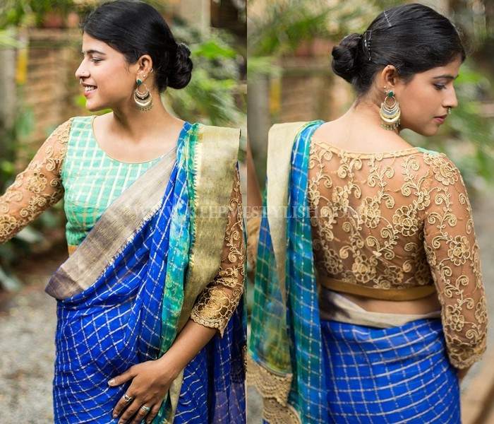13 New Blouse Back Neck Designs For Pattu Sarees • Keep Me Styli
