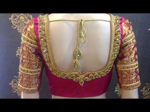 new blouse designs 2017-Blouse Back Neck models//Stylish and .