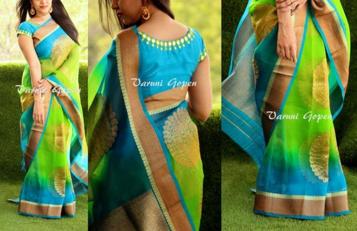 30+ Trendy Blouse Back Neck Designs For Silk Sarees | Blouse back .