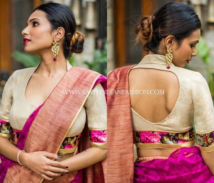 13 Trendy Blouse Back Neck Designs for Pattu Sarees | Stylish .