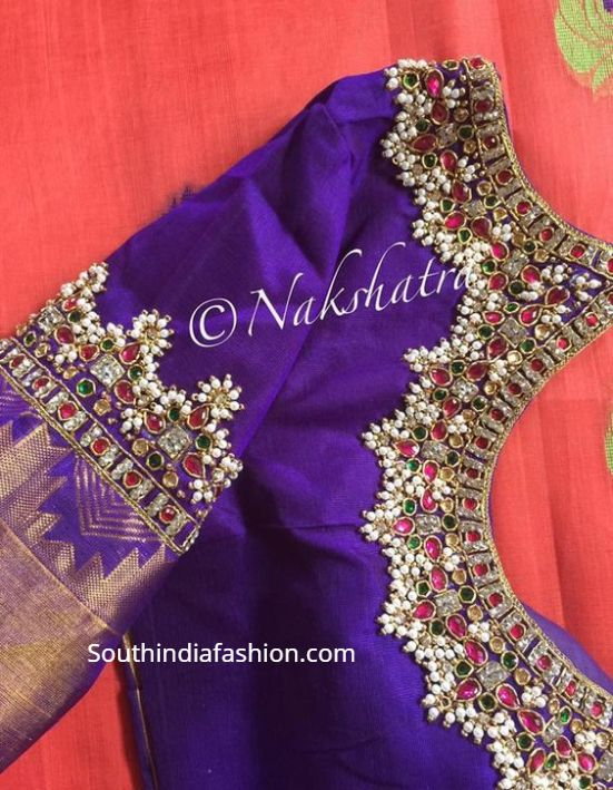 Guttapusalu Blouse Designs! | Embroidered blouse designs .
