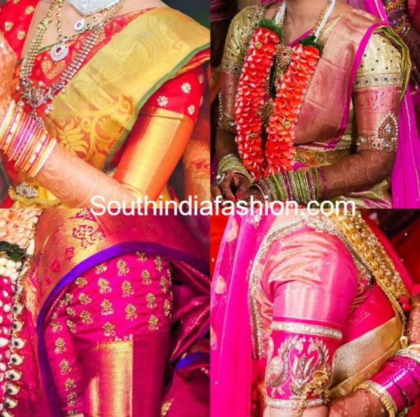 Silk Saree Blouse Designs with Borders – South India Fashi