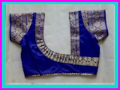55 Trendy blouse back neck designs with borders for sarees   Back .