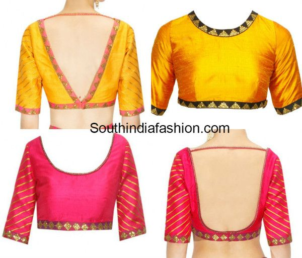 Simple Blouse Designs with Borders (With images)   Simple blouse .