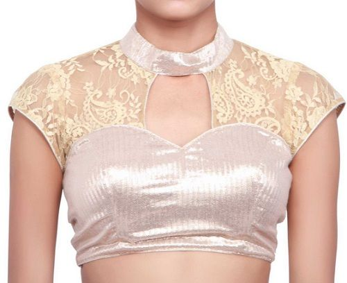 Front neck design for net blouse – Latest Blouse Designs: Blouse .