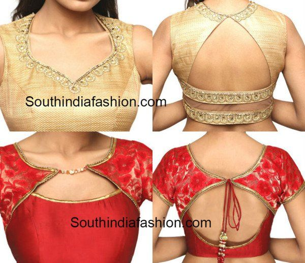 Latest Blouse Back and Front Neck Patterns | Latest saree blouse .