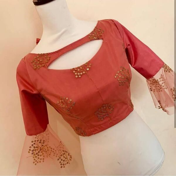 Latest Blouse Front Neck Designs for Sarees in 2020 (With images .