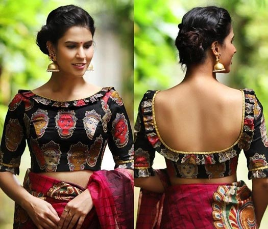 25 Trendy Boat Neck Blouse Front and Back Patterns Designs in 2020 .