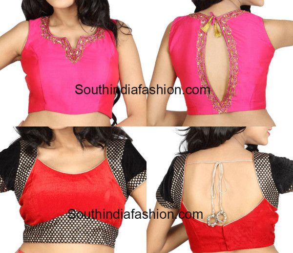 Latest Blouse Back and Front Neck Patterns (With images) | Trendy .