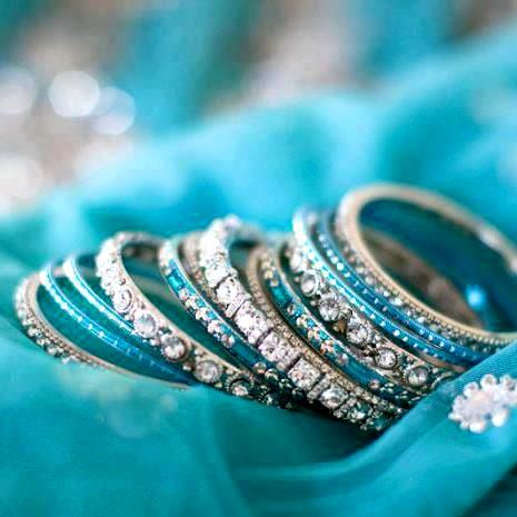 Indian Glass Sky Blue Bangles   Fashion bracelets, Glass bangles .