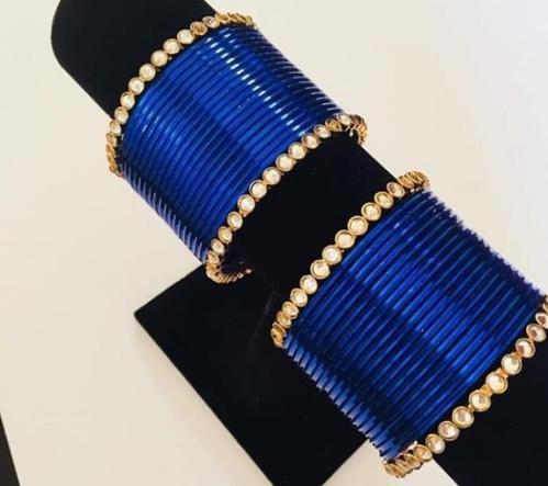 Round Ladies Blue Metal Bangle, Rs 300 /set Palvi Trading Company .