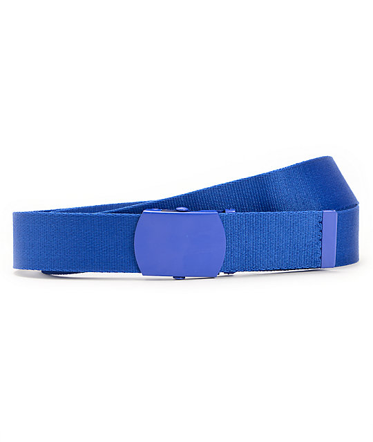 Zine Webster Royal Blue Web Belt | Zumi