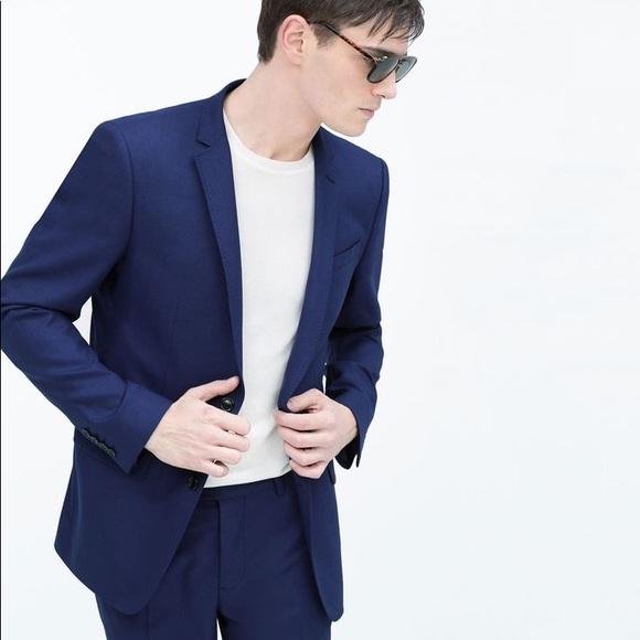 Zara Suits & Blazers | New Man Dark Blue Blazer Sz M Us 42 | Poshma