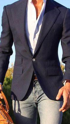 502 Best Men's Blue Blazers images | Mens outfits, Casual, Mens .