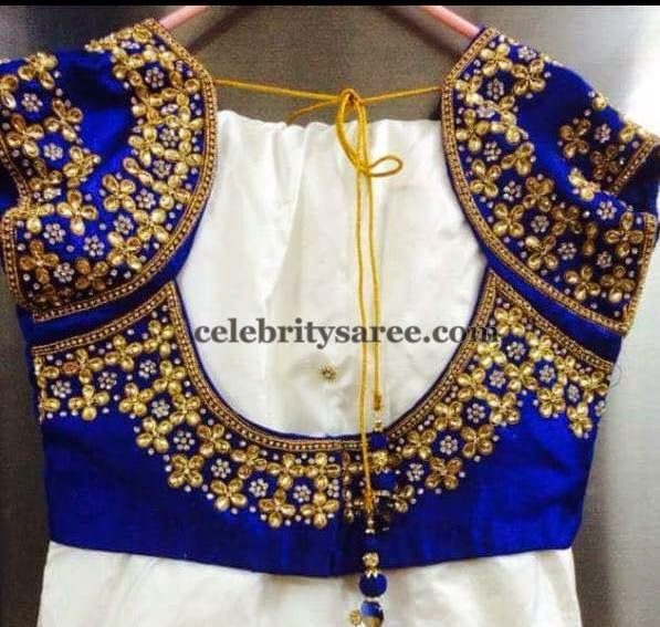 Blouse Designs with Sequins (With images) | Embroidered blouse .