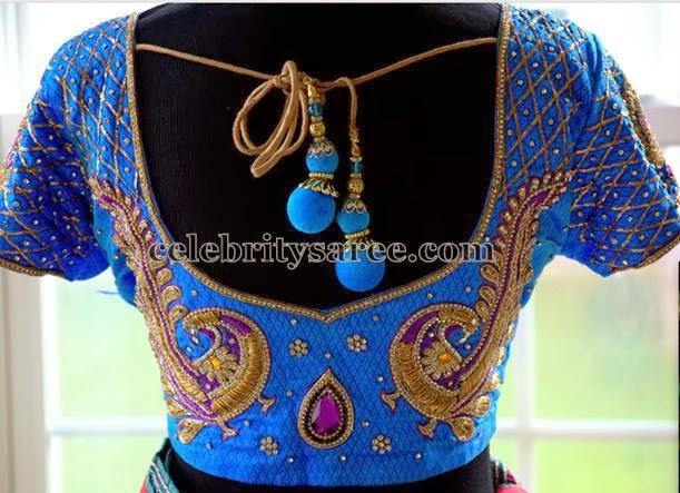 Peacock Work Designer Blouses - Saree Blouse Patter