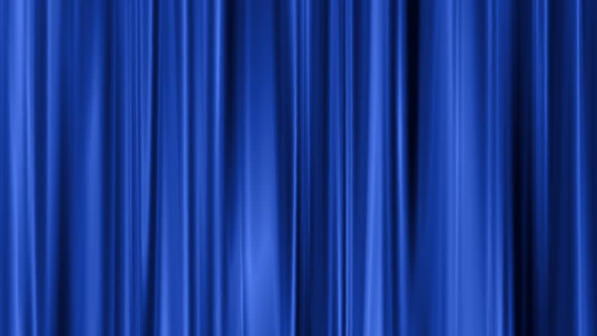 Blue Curtain Swaying Background Stock Footage Video (100% Royalty .