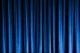 Blue Stage Curtains | Stage curtains, Curtains, Blue curtai