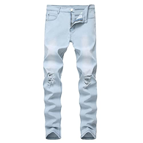 Light Blue Ripped Jeans: Amazon.c