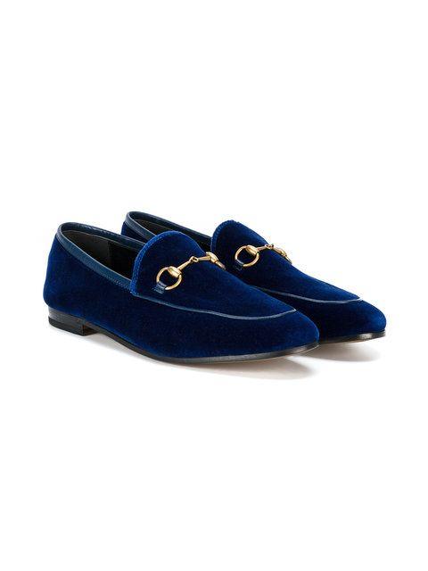 Gucci Blue Velvet Jordaan loafers | Loafers, Velvet loafers, Guc