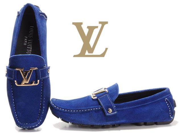 ROYAL BLUE LV LOAFERS | Louis vuitton men sho