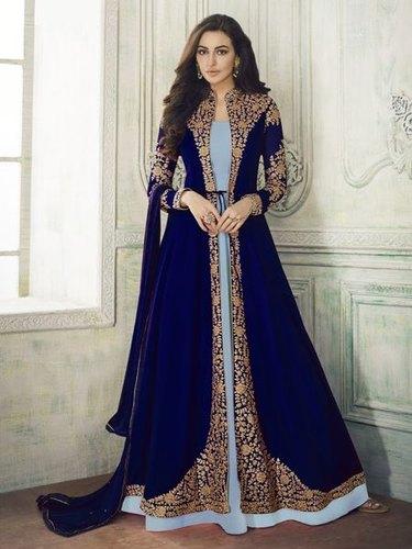 Designer Blue Salwar Suit Manufacturer in Surat Gujarat India by .