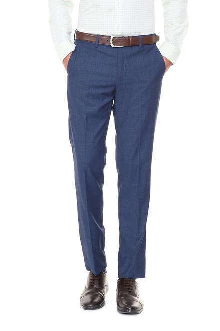 Peter England Trousers & Chinos, Peter England Blue Trousers for .