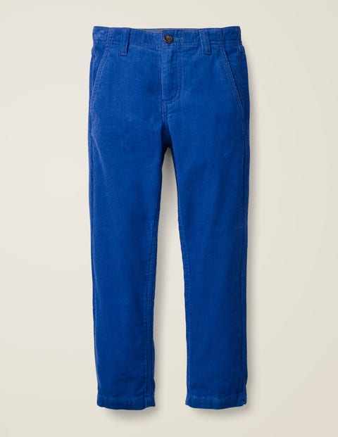 Relaxed Cord Chino Trousers - Bright Blue | Boden