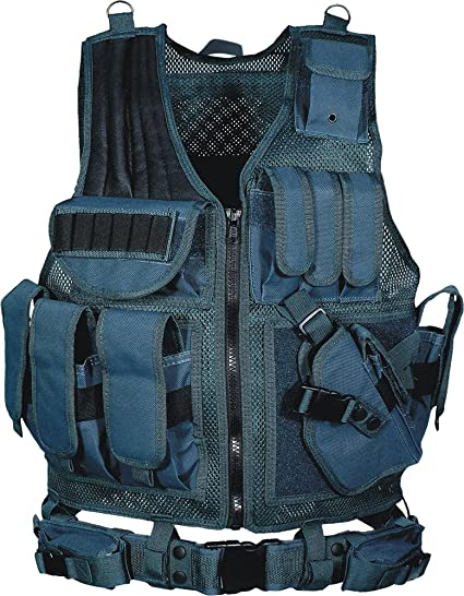 Amazon.com : UTG 547 Law Enforcement Tactical Vest - Navy Blue .