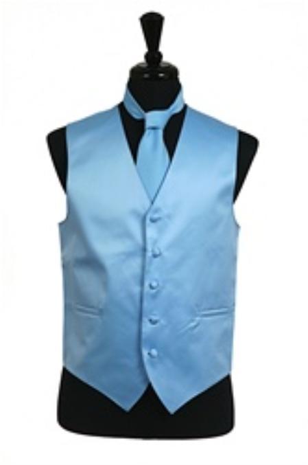 Light Sky Blue Vests – Fashion dress