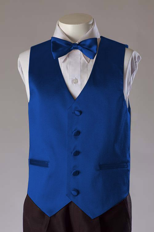 Boys Royal 2 Piece Satin Vest Set $26.95 (With images) | Vest for .