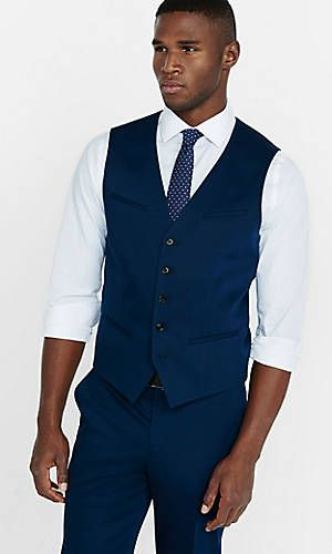 cotton sateen navy blue vest (With images) | Navy blue ve