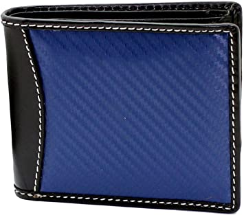 Amazon.com: STARHIDE Men's Real Leather & Carbon Fiber Slim Wallet .