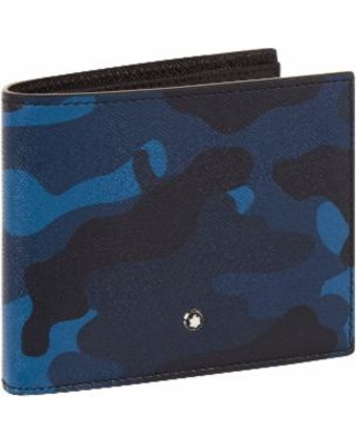 New Bargains on Bifold Leather Camouflage Wallet - Blue .