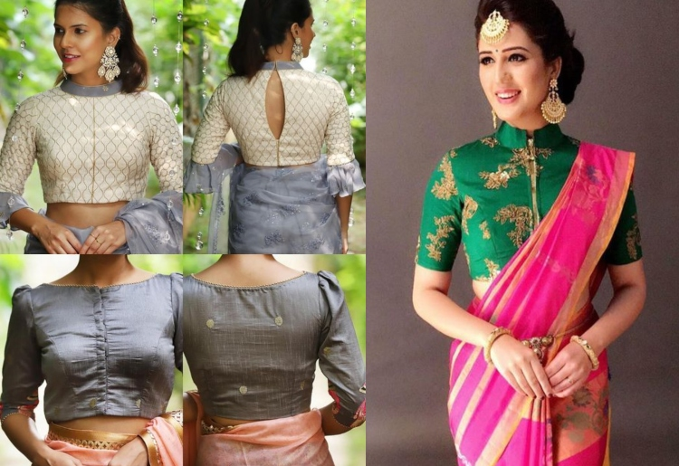 30 Latest Boat Neck Blouse Designs To Make You Look More Beautif
