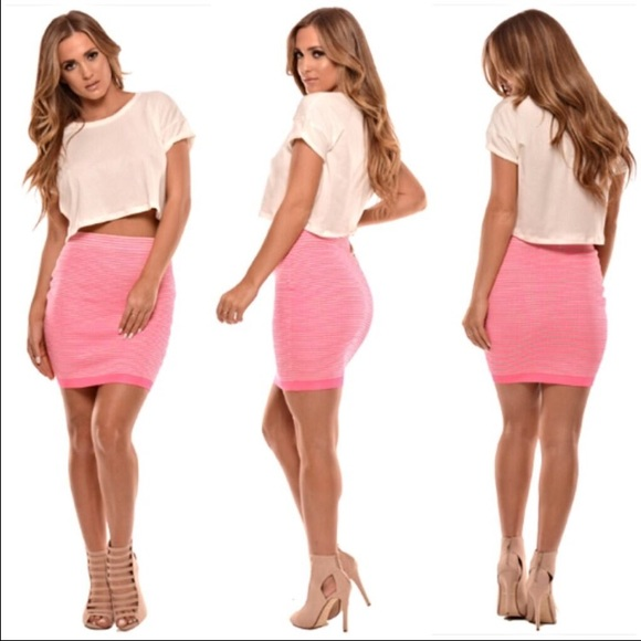 Naked Wardrobe Skirts | Pink Bodycon Skirt | Poshma