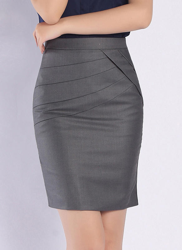 Polyester Plain Above Knee Bodycon Skirts (1005236985) - Skirts .