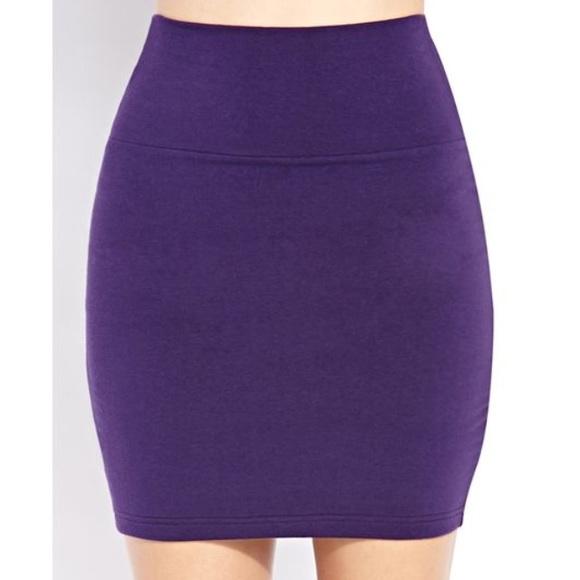 Cotton On Skirts | Purple Bodycon Skirt | Poshma