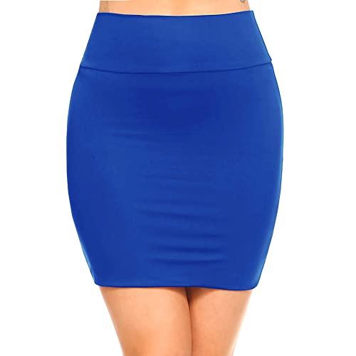 Blue Bodycon Skirt: Amazon.c