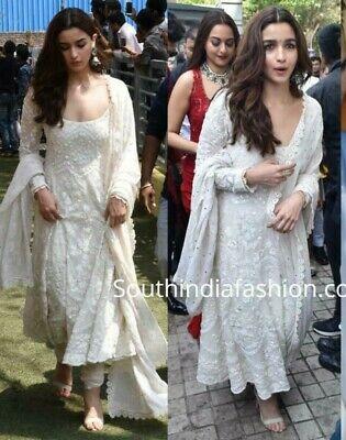 Anarkali Georgette Bollywood Salwar Suit Indian Designer Ethnic .