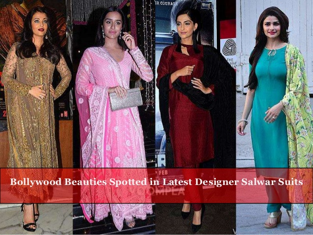 Bollywood Beauties spotted in Latest Designer Salwar Sui