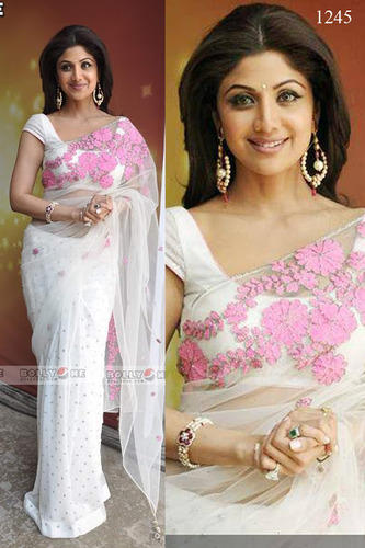 White Bollywood Sarees at Rs 3000/piece(s) | Bollywood Saree | ID .
