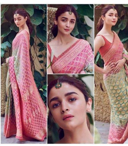 Multy Silk Designer Bollywood Sarees, 5.5 m (separate blouse piece .