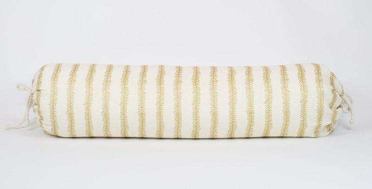Viney Gold Striped Ivory Bolster Pill