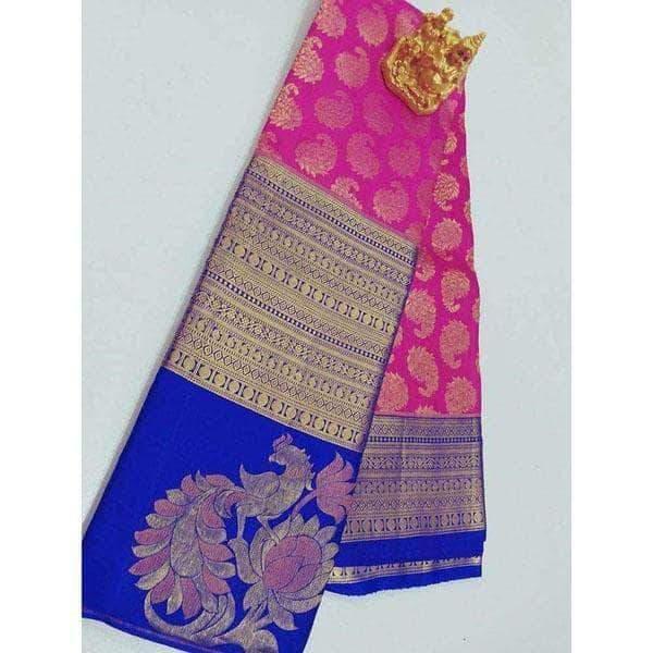 Kanchipuram Silk with Beautiful Border Wedding / Bridal Sarees .