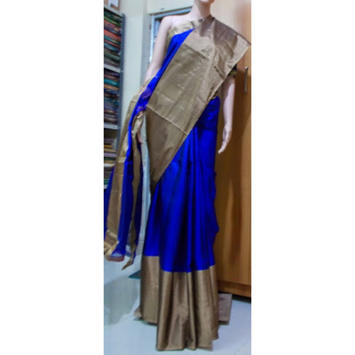 Pure Soft Silk Big Border Sarees, प्योर सिल्क साड़ी .
