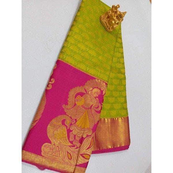 Kanchipuram Silk with Traditional Border Wedding / Bridal Sarees .